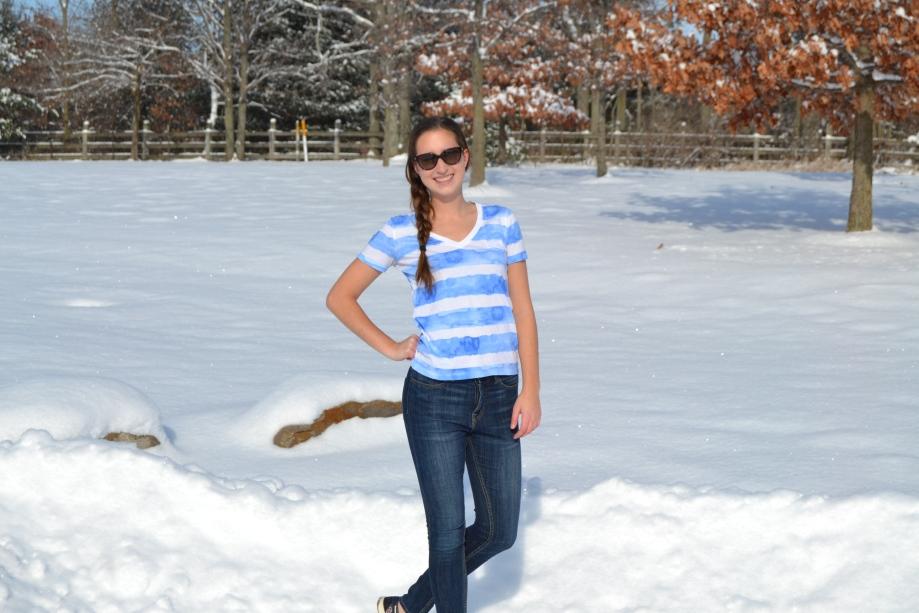 Sunglasses: D&G, Shirt: Gap, Jeans: Urban Outfitters