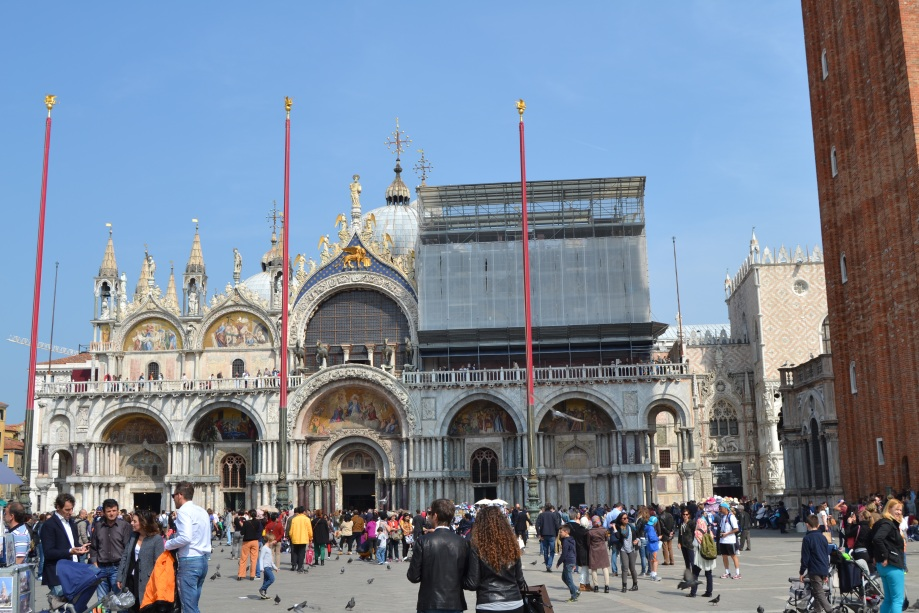 Unfortunately, the basilica was being renovated so you can only see half of the beautiful facade.