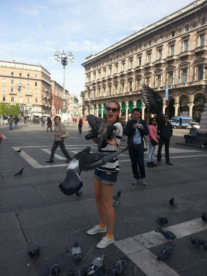 Pigeons in Milan 1