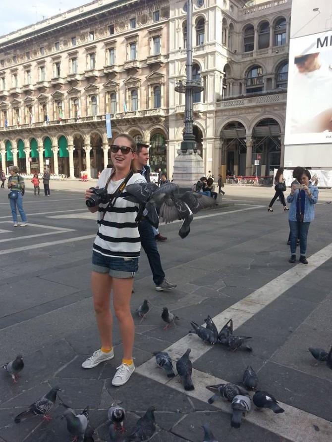 Pigeons in Milan 2