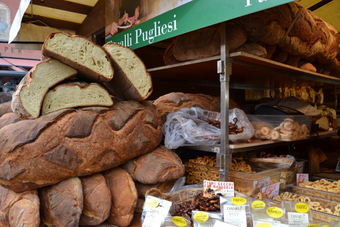 Bread stall in Verona