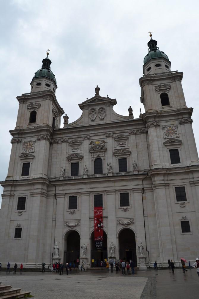 Salzburg's Cathedral--Tall Girl Big World