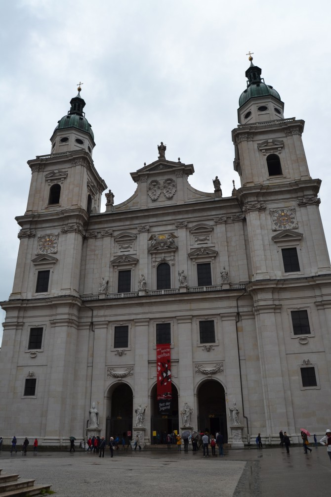 Salzburg's Cathedral--Tall Girl Big World