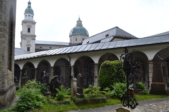 Graveyard off of the Salzburg Cathedral--Tall Girl Big World