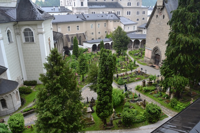 Graveyard off the Salzburg Cathedral--Tall Girl Big World
