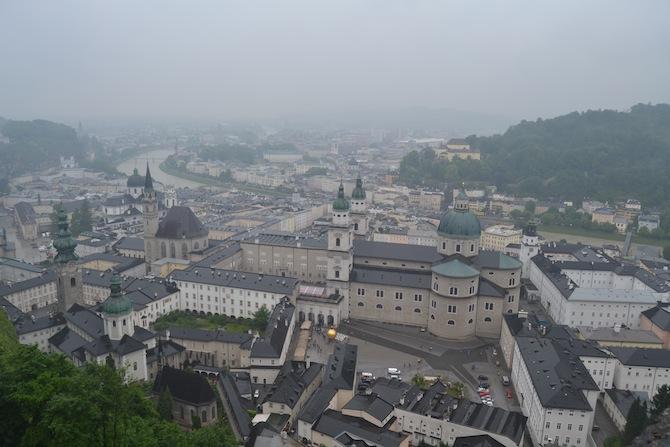 View of Salzburg from Hohensalzburg Fortress-- Tall Girl Big World