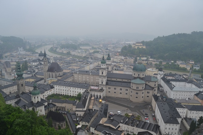 View of Salzburg from Hohensalzburg Fortress-- Tall Girl Big World